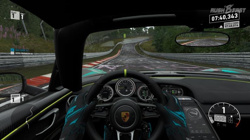 Forza Motorsport 7: HUD aktiv