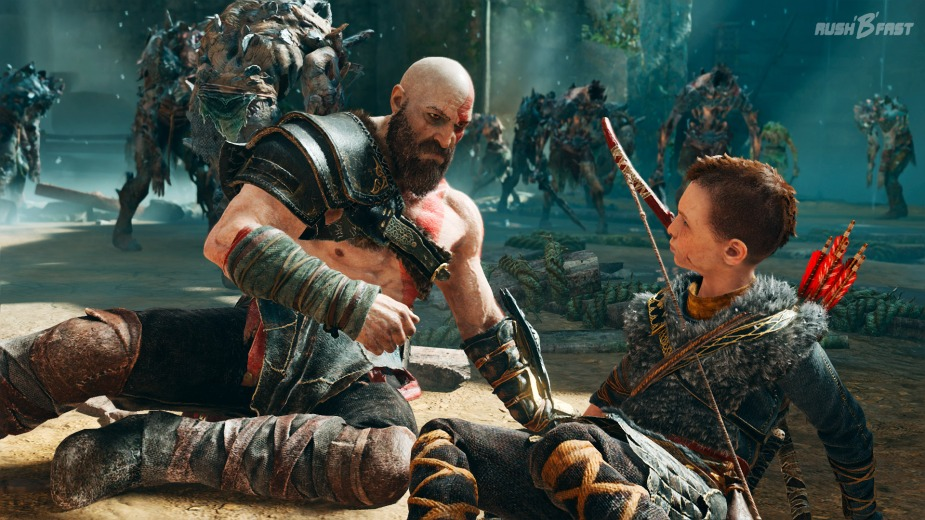 God of War (2018): Kratos und Atreus in der Falle