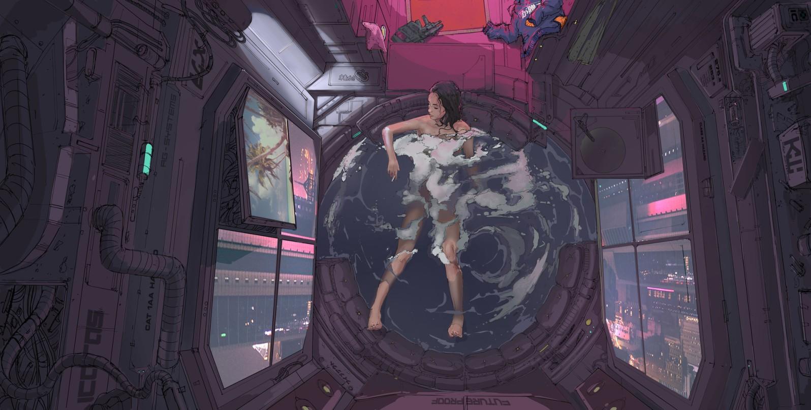 "Quelle: ArtStation - Klaus Wittmann ""Bath 2077"""