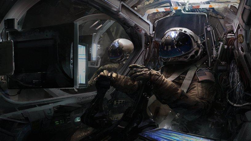 """Quelle: ArtStation - Klaus Wittmann """"Manta cockpit with pilots"""""""