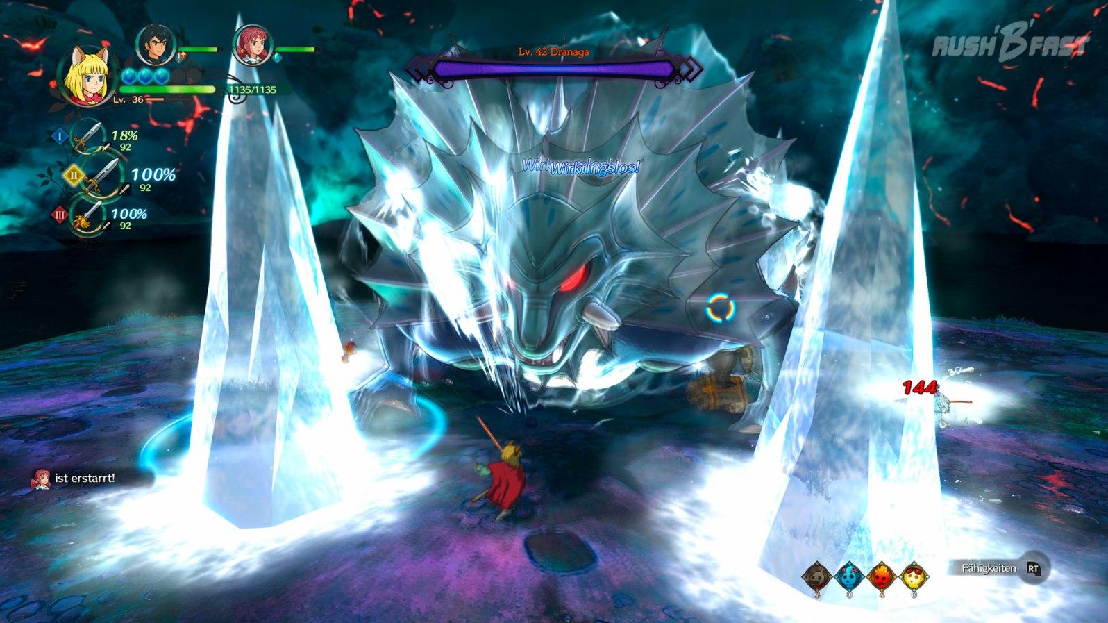Ni No Kuni 2: Bosskampf mit einem Wächter
