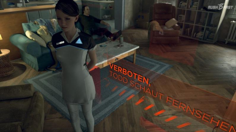Karas darf durch den Befehl von Todd nicht mehr durch das Bild laufen.