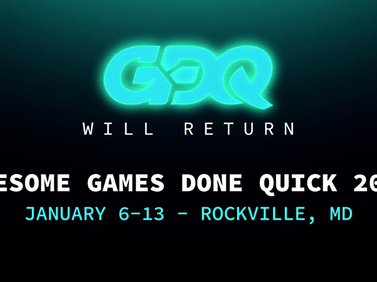Games Done Quick - AGDQ - 6.-13. Januar 2019 - Neuer Austragungsort