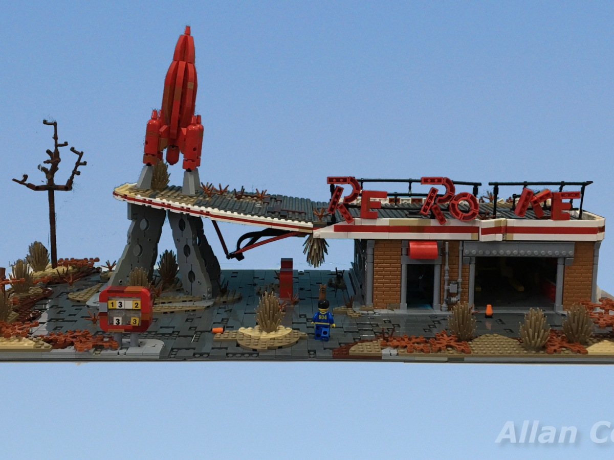 Allan Corbeil - Fallout 4 - LEGO Red Rocket Tankstelle