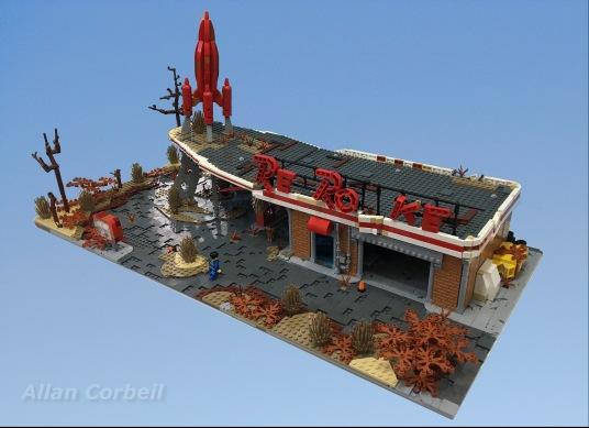 Allan Corbeil - Fallout 4 - LEGO Red Rocket Tankstelle - Draufsicht