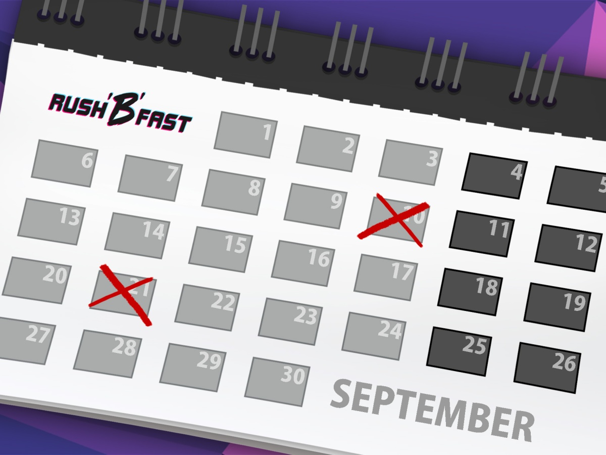 rush'B'fast Release-Kalender: September