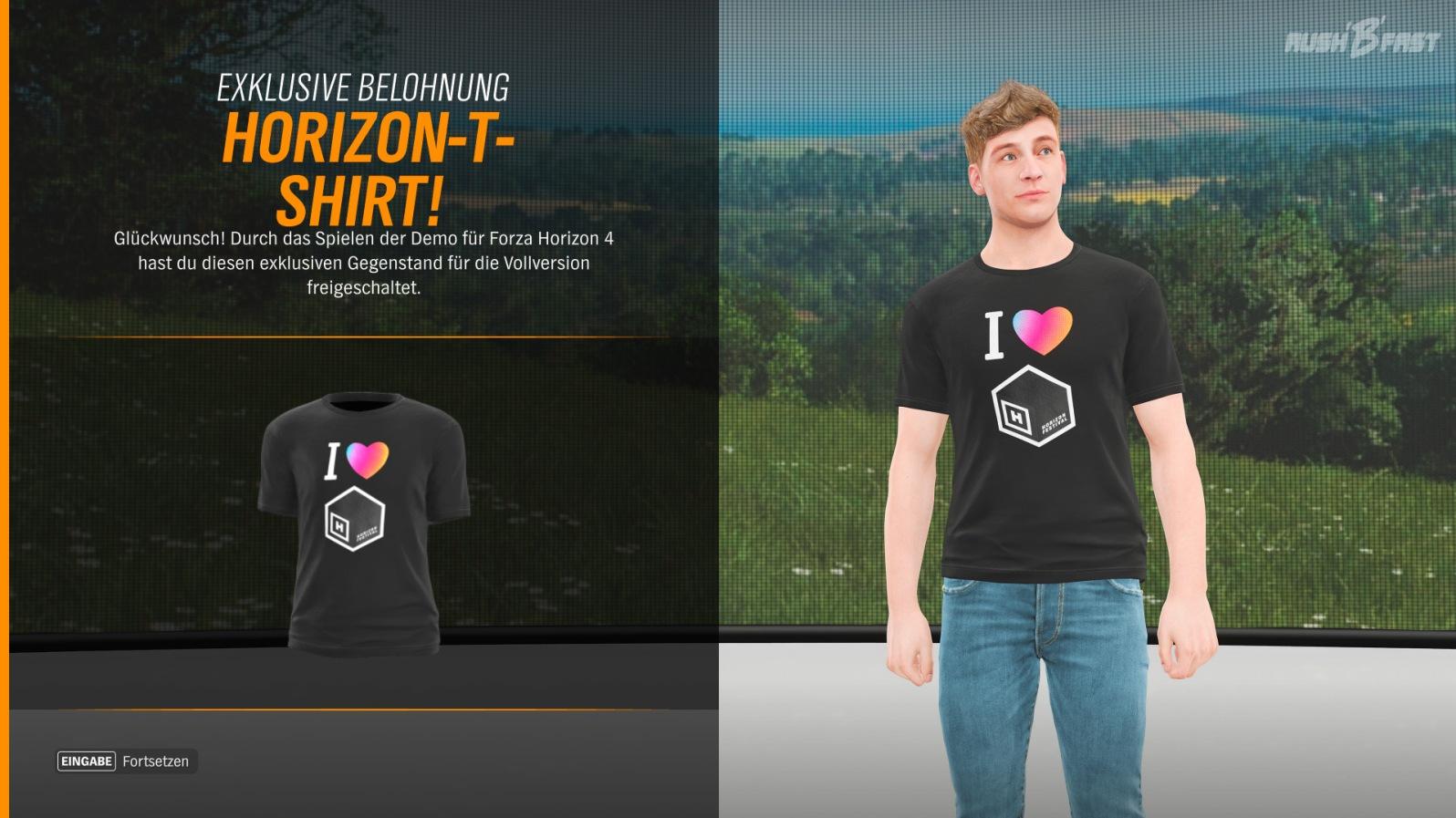 Forza Horizon 4 Demo - Horizon-T-Shirt