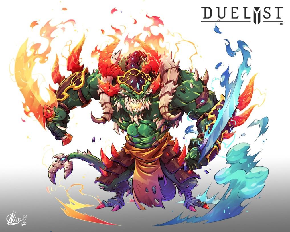 Quelle: nicolasaviori.artstation.com - Nicola Saviori - Generals Magmar form Duelyst: Immortal Vanguard