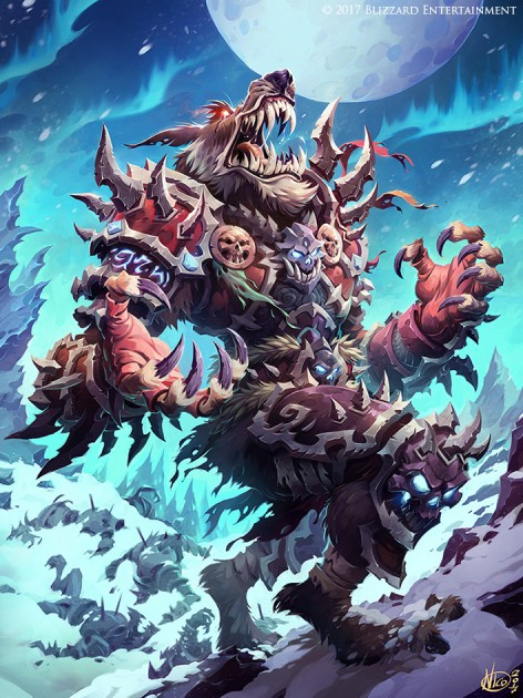"Quelle: nicolasaviori.artstation.com - Nicola Saviori - Night Howler from Hearthstone ""Knights of the Frozen Throne"""