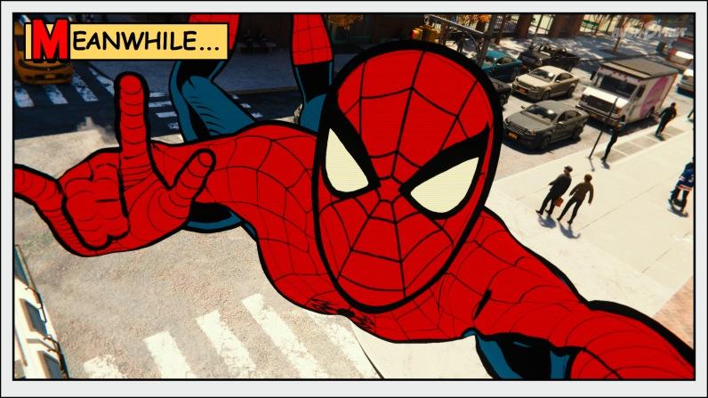 Marvel's Spider-Man Screenshot im Comic Look.