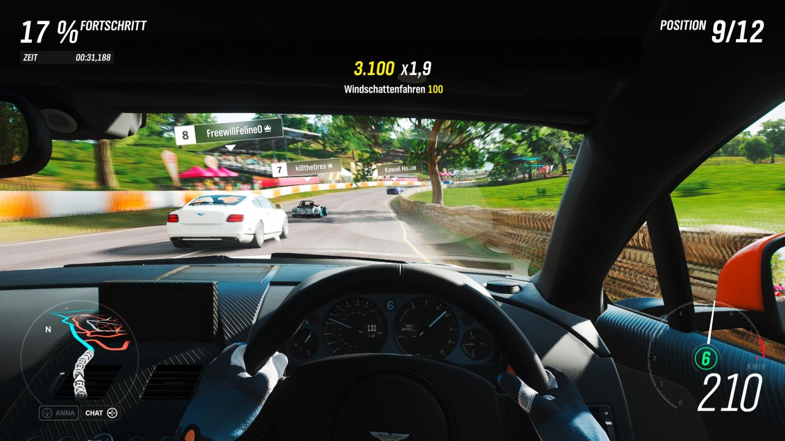 Forza Horizon 4 - Detailreiches Cockpit