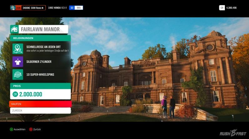 Forza Horizon 4 - Immobilien erwerben