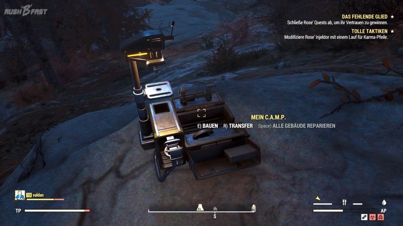 Fallout 76 - Mein C.A.M.P - Das Tool für den Basisbau