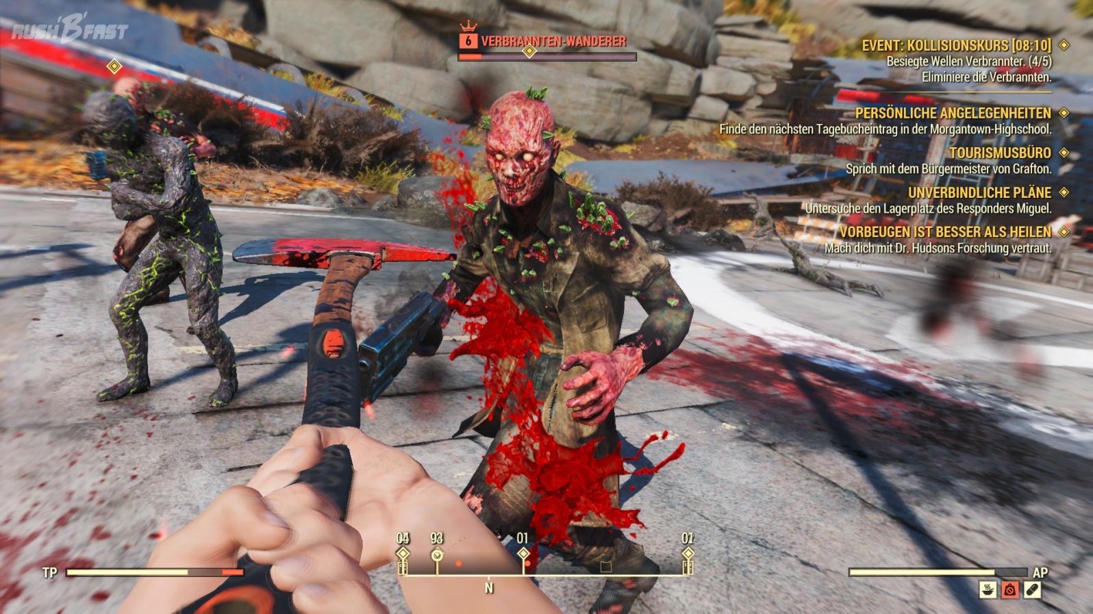 Fallout 76 - Event: Kollisionskurs - Gegner: Verbrannter-Wanderer (Elite)