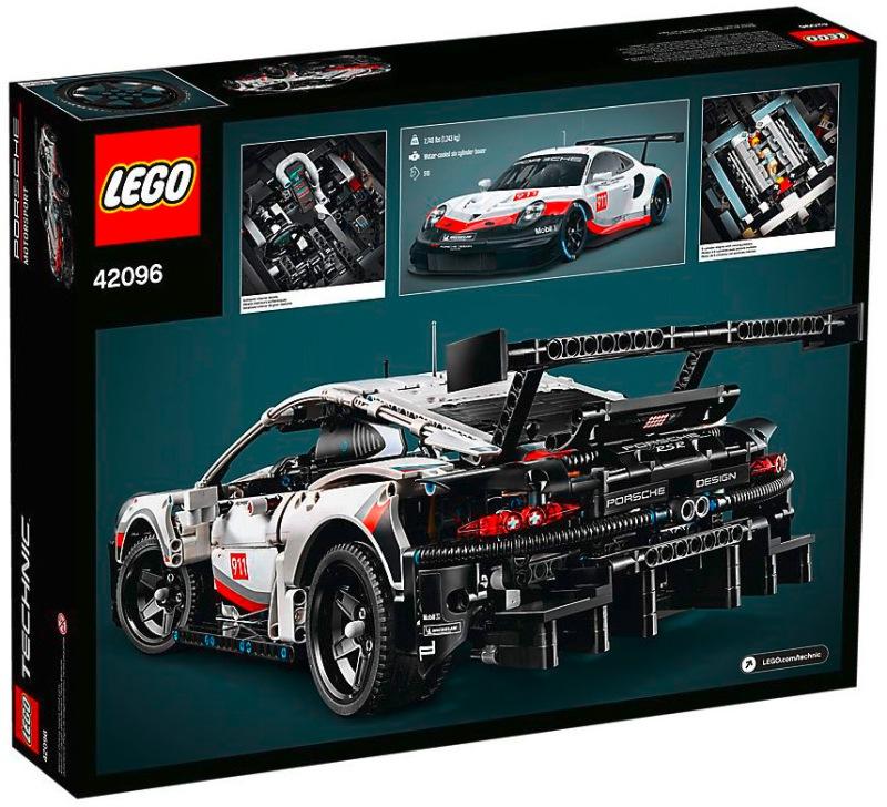 Quelle: shop.lego.com - Porsche 911 RSR (Verpackung Rückseite) - LEGO Technic