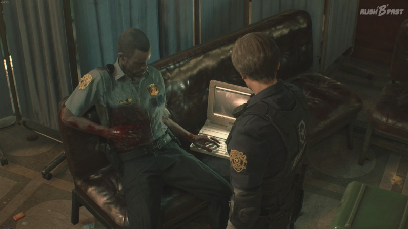 Resident Evil 2 - Krisensitzung: Leon erfährt sein nächstes Ziel.