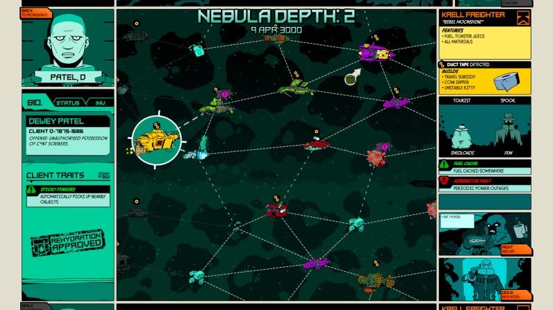 Quelle: voidbastards.com - Auf der Sternenkarte können wir unser nächstes Ziel auswählen.