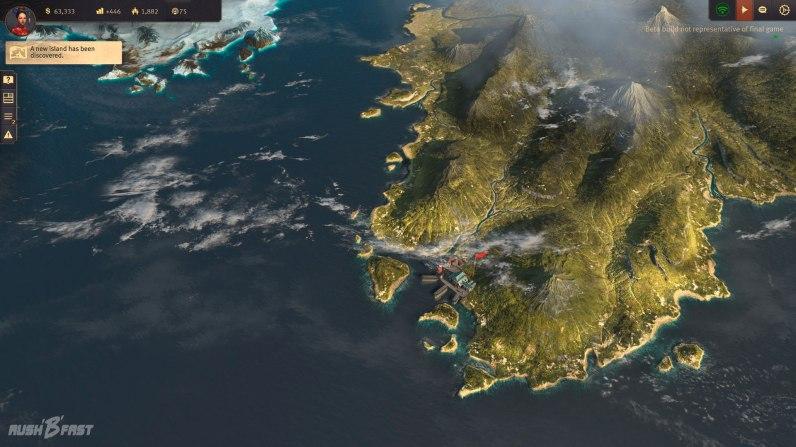 Anno 1800 - Closed Beta - So sieht die 3D-Weltkarte in Anno 1800 aus.
