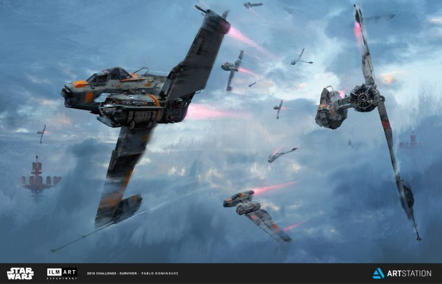 Quelle: artstation.com/pablodominguez - Pablo Dominguez - ILM Art Department Challenge - The Ride