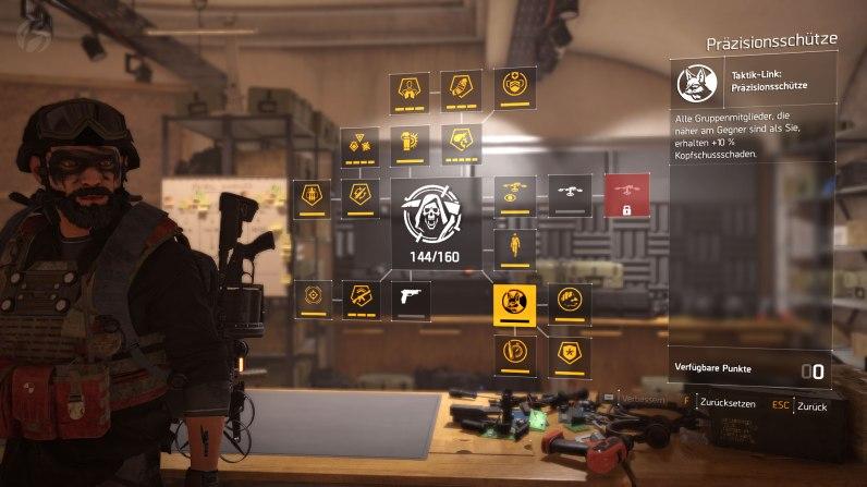 Tom Clancy's The Division 2 - Alle im Endgame freischaltbaren Spezialisierungs-Skilltrees enthalten Verbesserungen, die sich auch auf die Gruppe auswirken und den Kampf deutlich erleichtern.