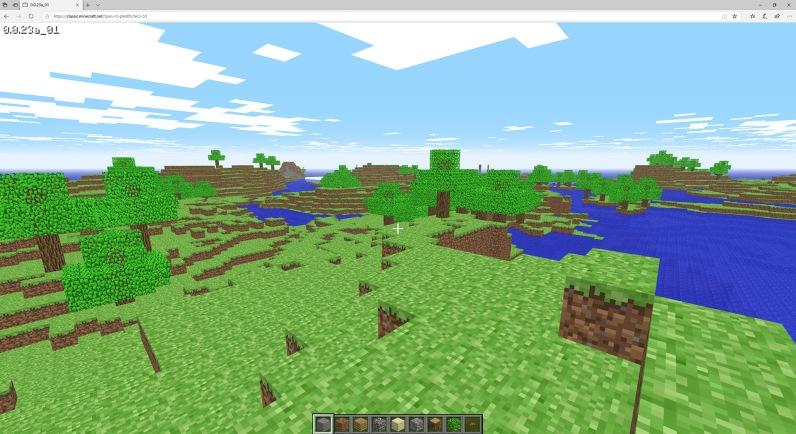 Quelle: minecraft.net - Minecraft läuft im Browser