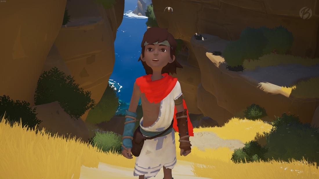 RiME - Unser junger Held macht sich bereit für ein rätselhaftes Abenteuer.