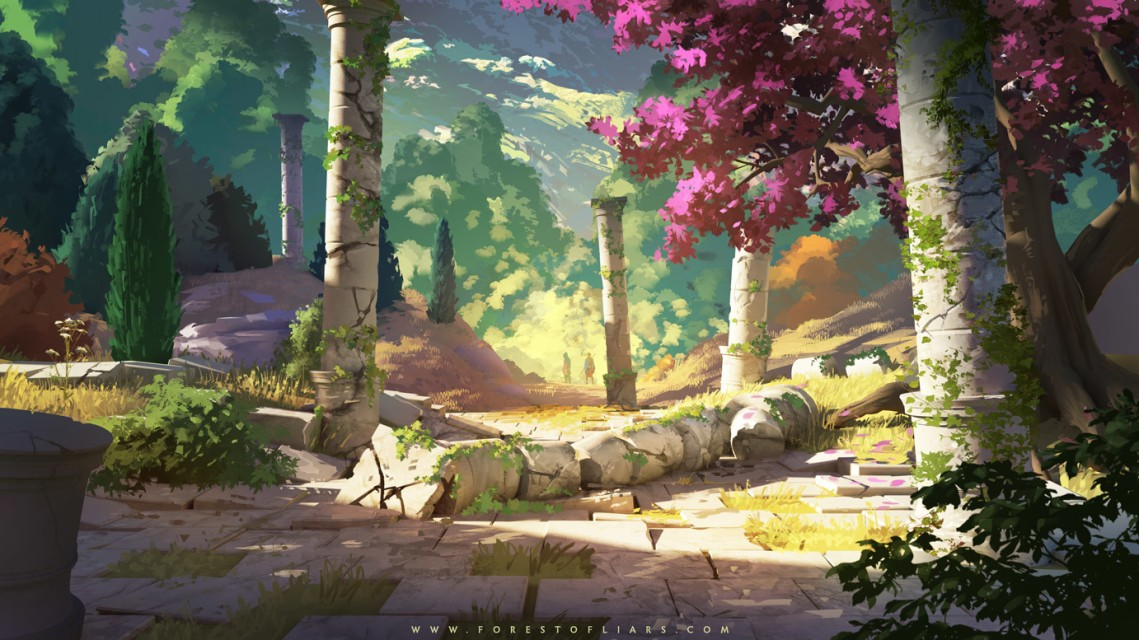 Quelle: tohad.artstation.com - Sylvain Sarrailh - Forest of Liars: remains of the past