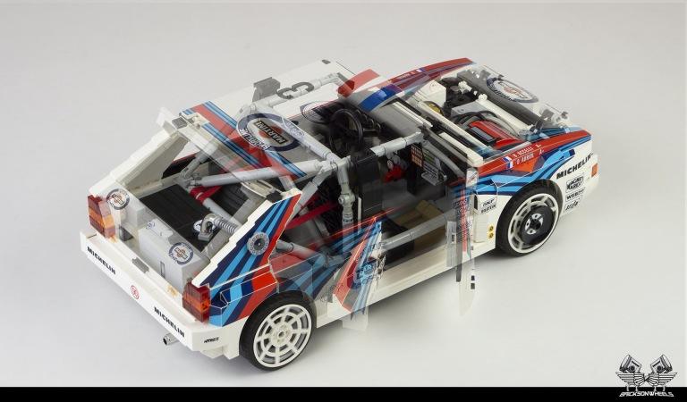 Quelle: flickr/Bricksonwheels - Lancia Delta HF Integrale EVO (Überrollkäfig)