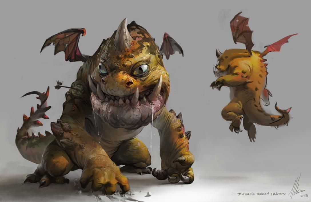 Quelle: neisbeis.artstation.com - Ignacio Bazan-Lazcano - Orange Dragon