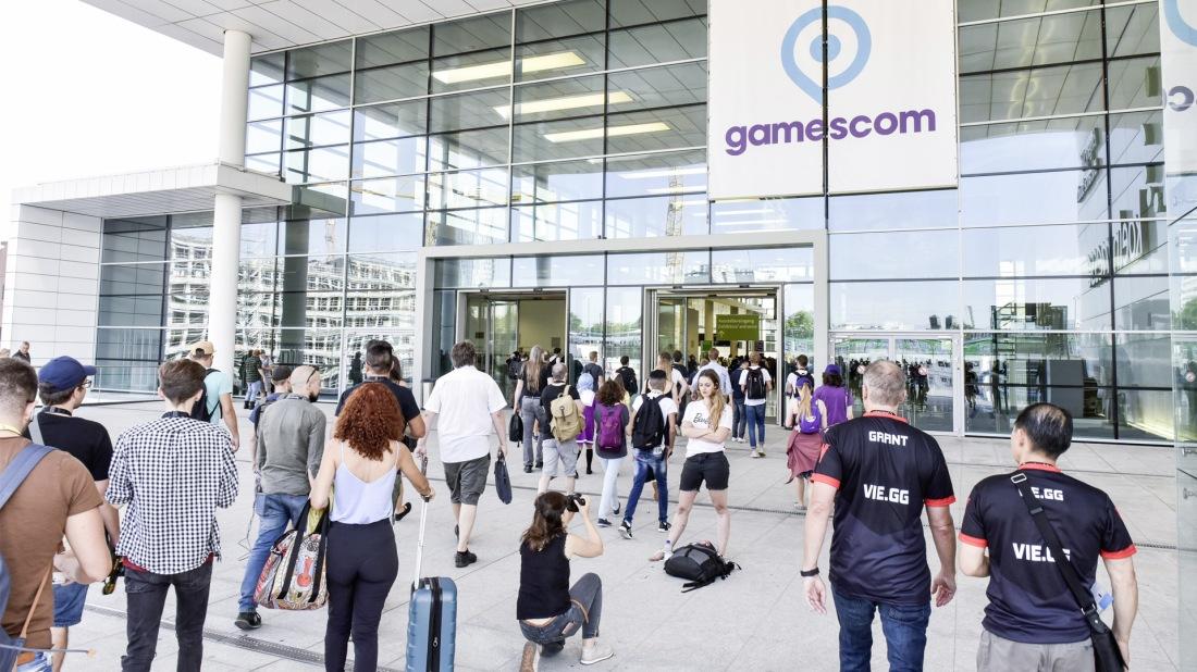 Quelle: Koelnmesse/Thomas Klerx - gamescom-2018 Eingang Nord